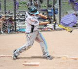 high school baseball batter swings